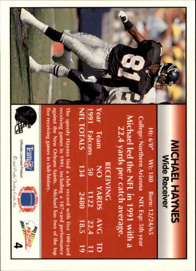 1992 Pacific #4 Michael Haynes back image