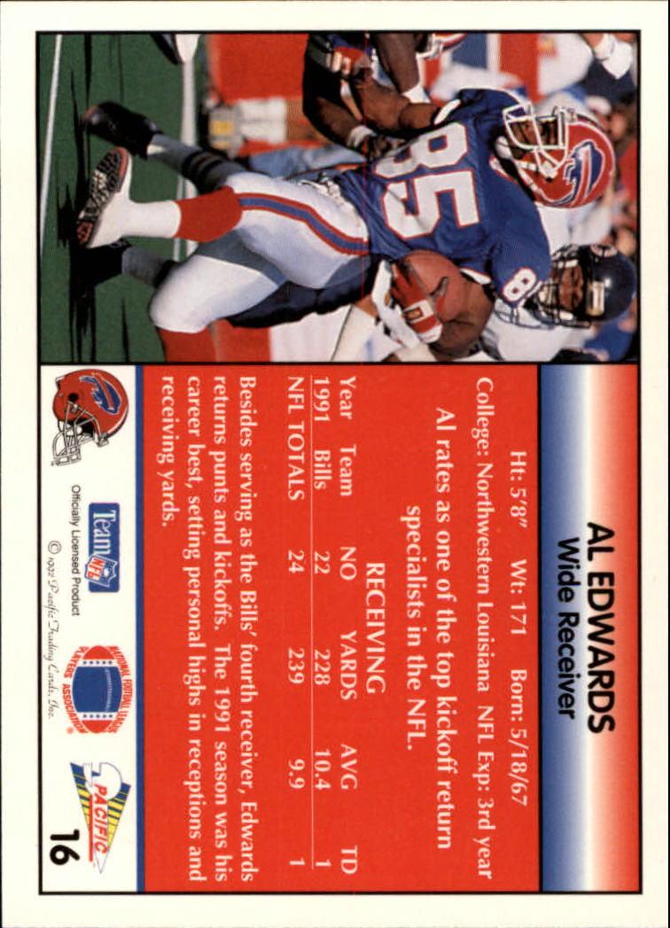 1992 Pacific #16 Al Edwards back image