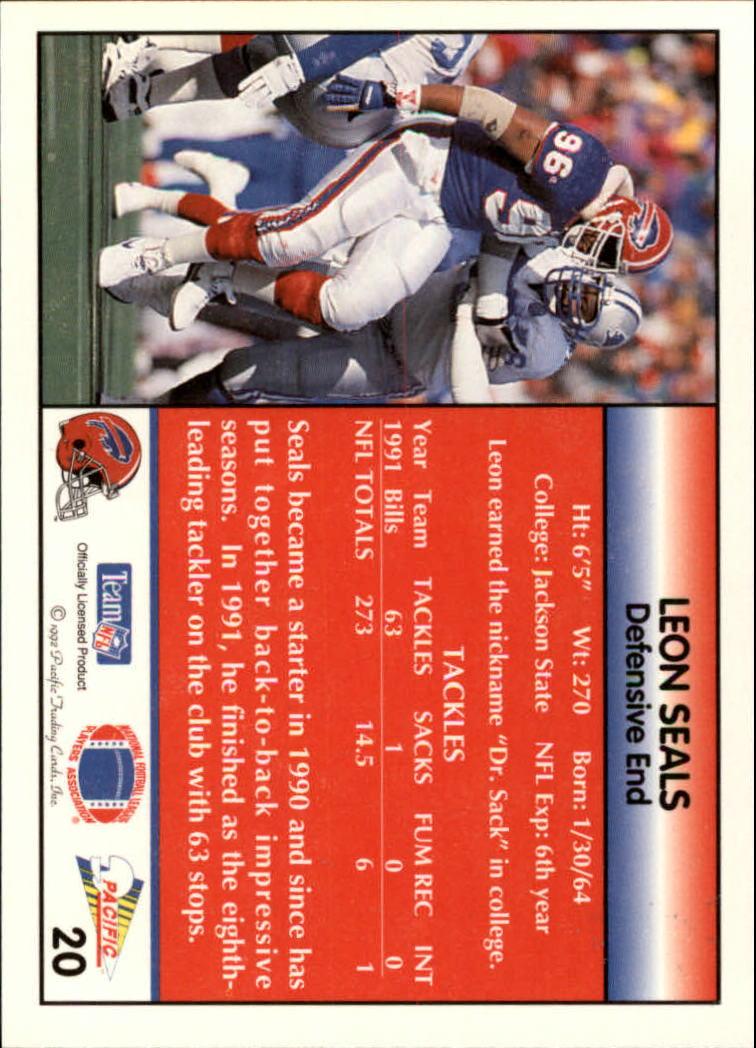 1992 Pacific #20 Leon Seals back image