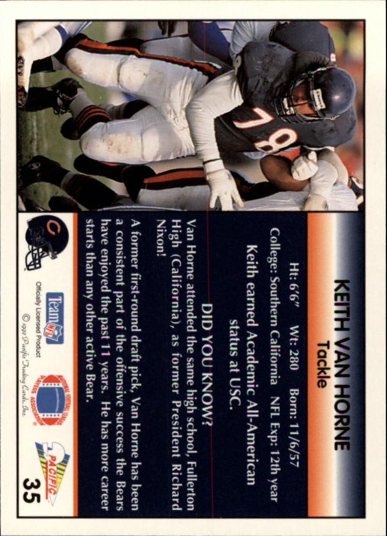 1992 Pacific #35 Keith Van Horne back image