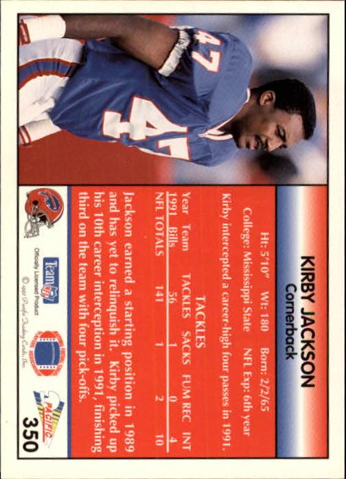 1992 Pacific #350 Kirby Jackson back image