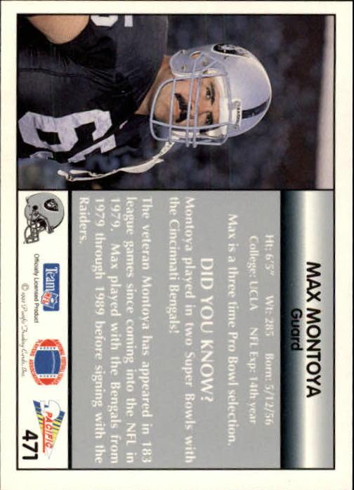 1992 Pacific #471 Max Montoya back image