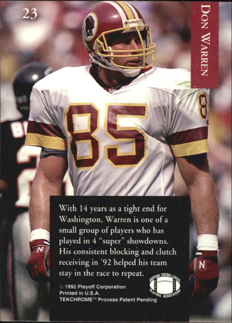 1992 Playoff #23 Don Warren back image