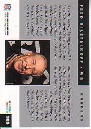 1992 Pro Line Portraits #385 Fred Biletnikoff RET back image