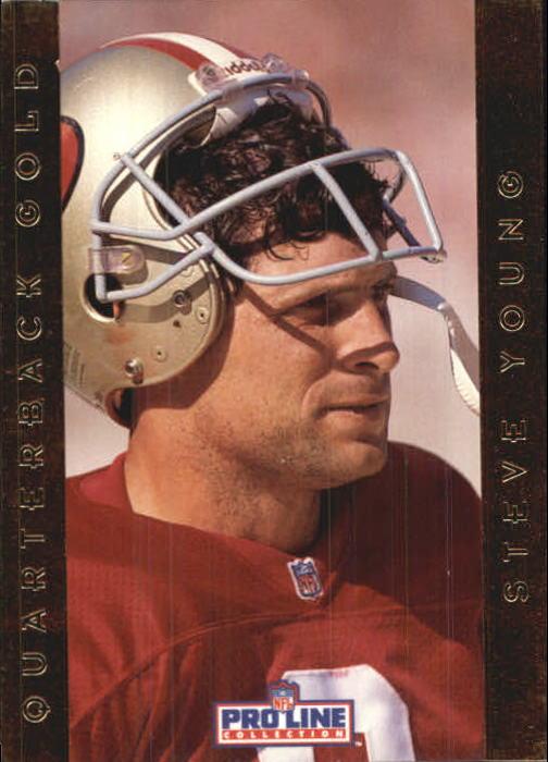 1992 Pro Line Portraits QB Gold #18 Steve Young