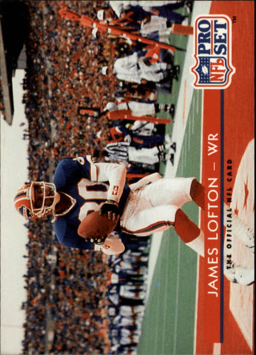 1992 Pro Set #98 James Lofton UER/(Says he played in '75/Pro Bowl, but he wasn't/in NFL until 1978)