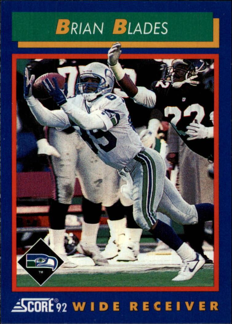 1992 Score #86 Brian Blades