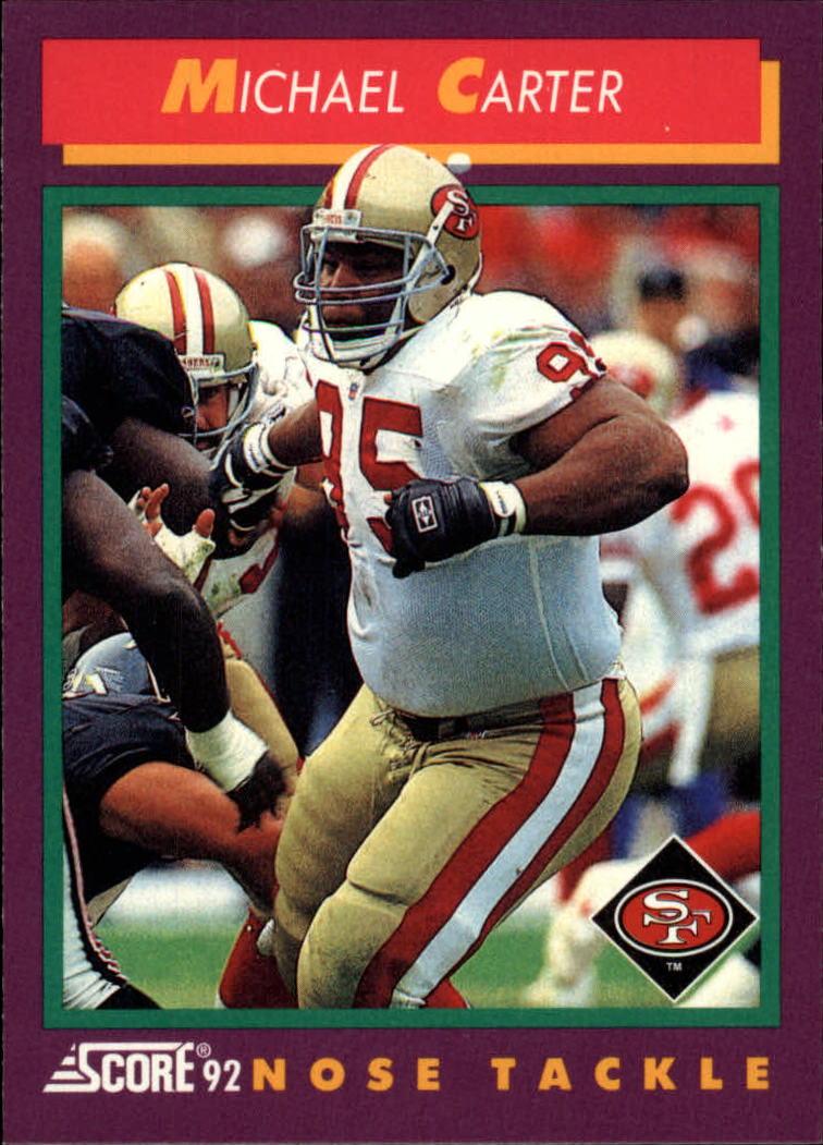 1992 Score #126 Michael Carter
