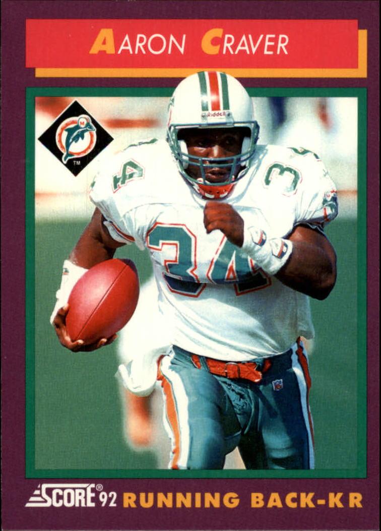 1992 Score #188 Aaron Craver
