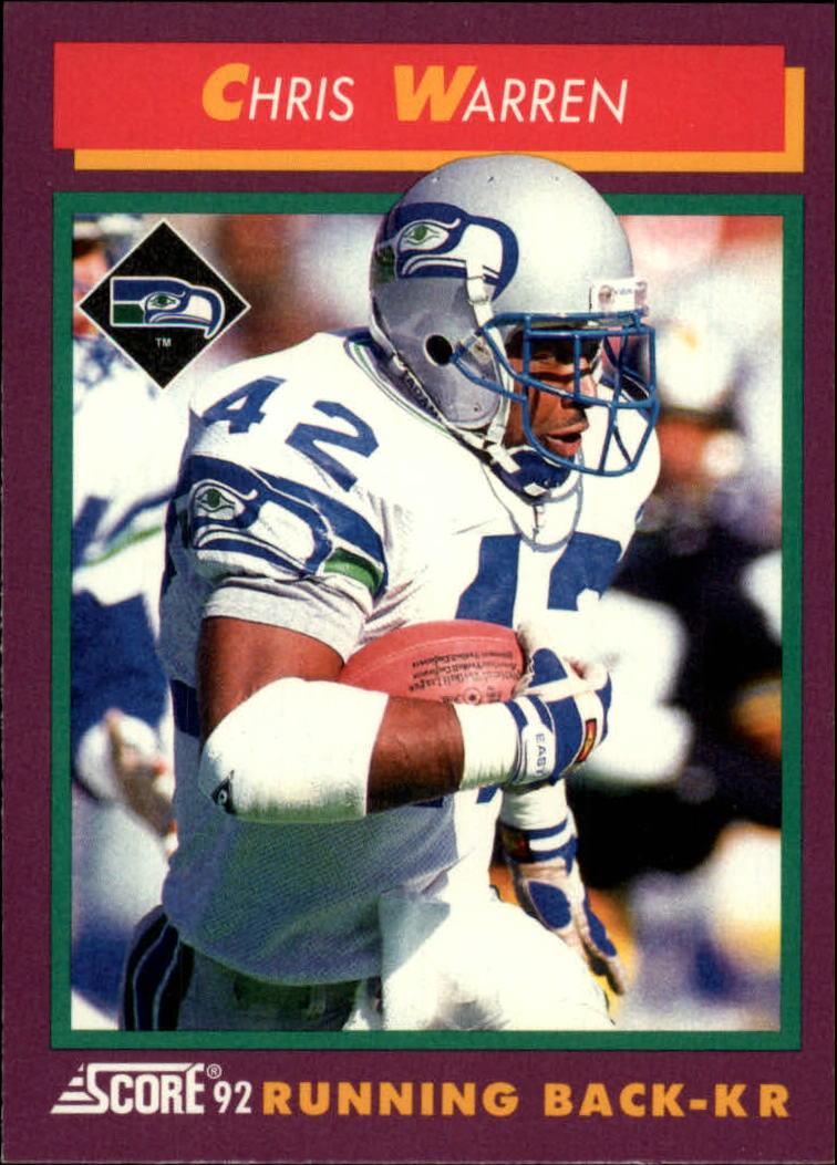 1992 Score #198 Chris Warren