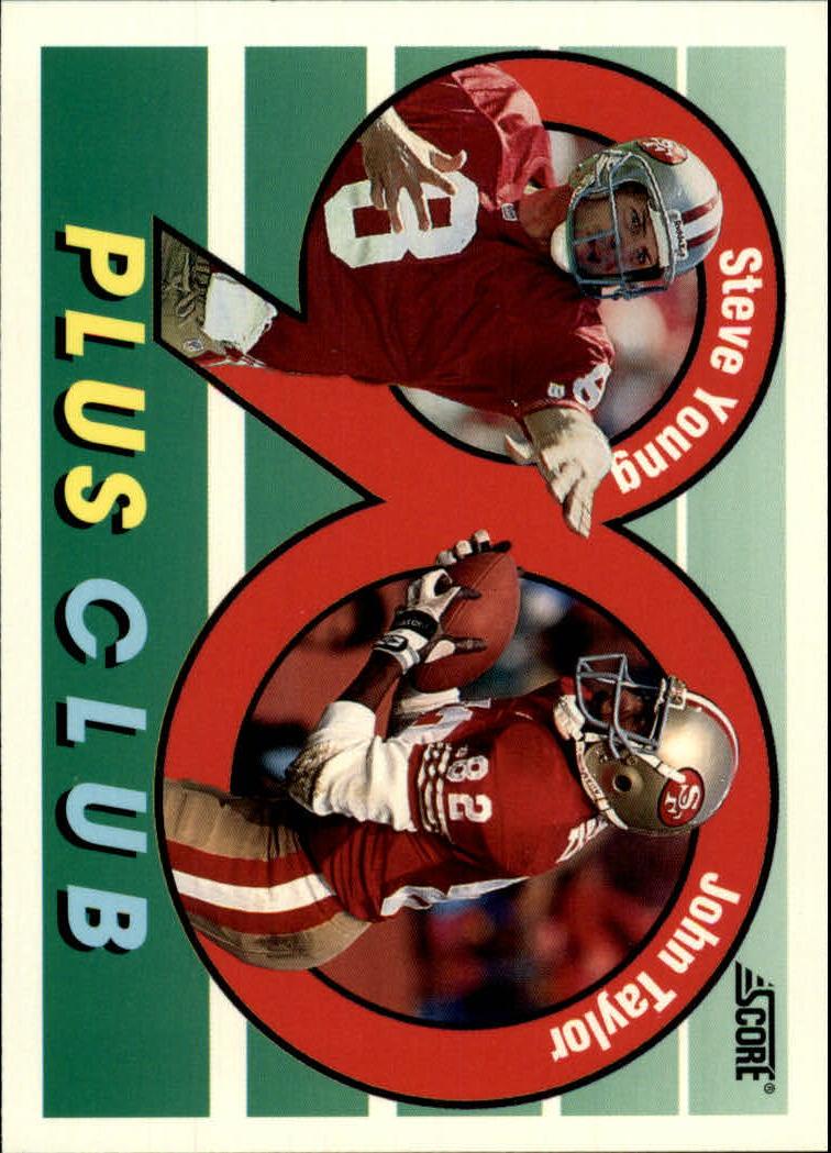 1992 Score #542 Steve Young/J.Taylor 90