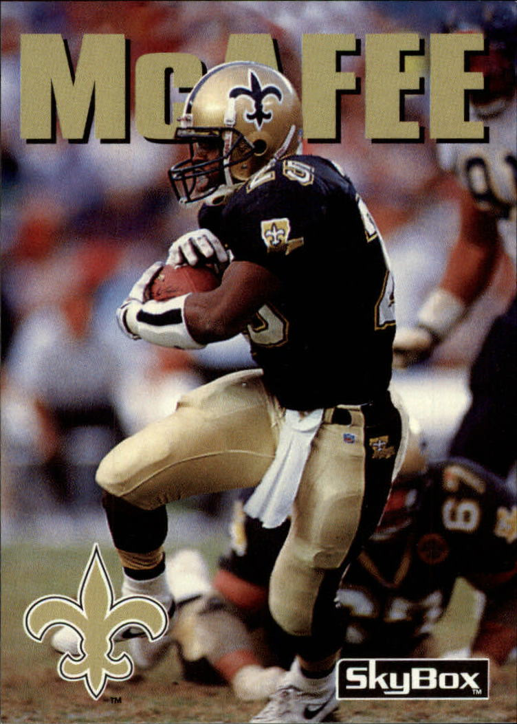 1992 SkyBox Impact #5 Fred McAfee RC