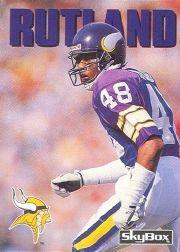 1992 SkyBox Impact #259 Reggie Rutland