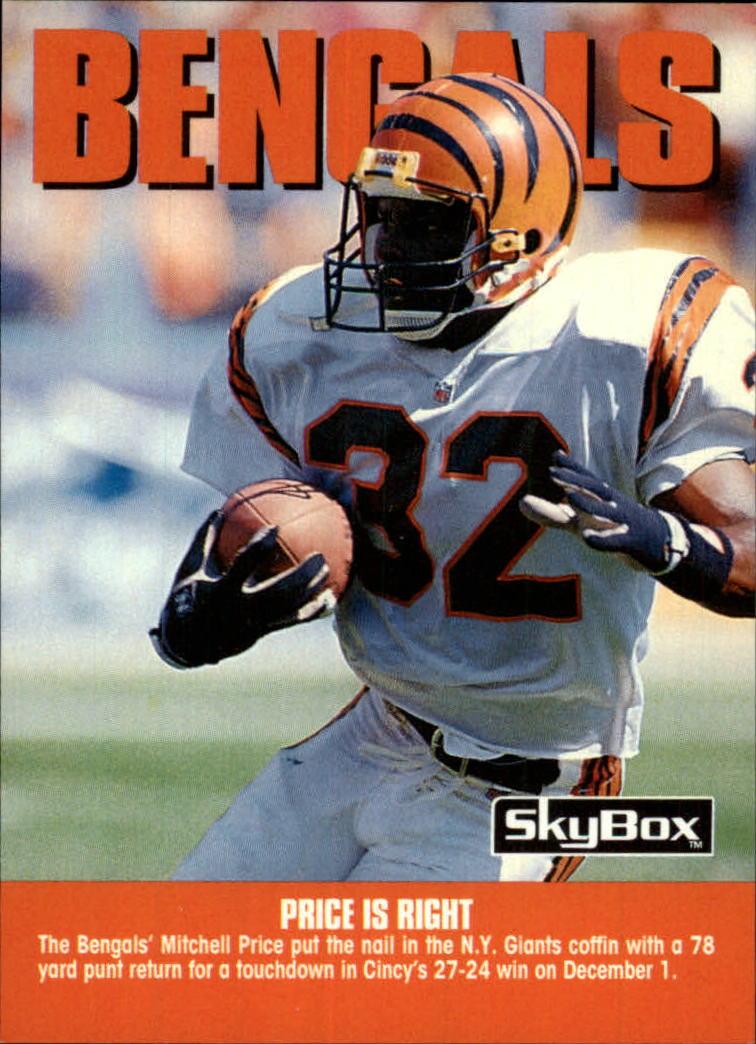 1992 SkyBox Impact #280 Cincinnati Bengals CL/Price is Right ...