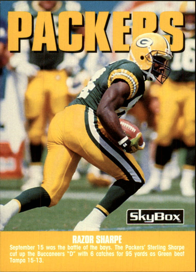 1992 SkyBox Impact #285 Green Bay Packers CL/Razor Sharpe/(Sterling Sharpe)