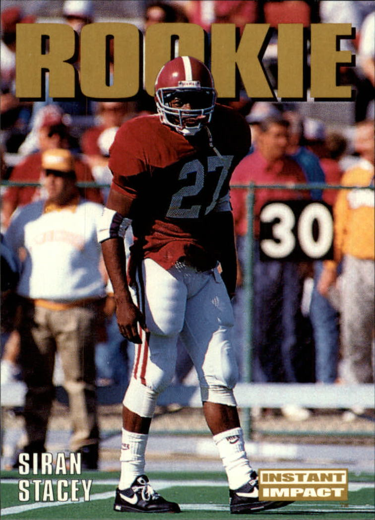 1992 SkyBox Impact #335 Siran Stacy RC UER/(Misspelled Stacey)