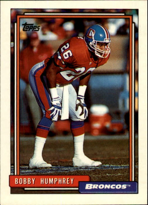 1992 Topps #647 Bobby Humphrey UER/(Old team front&/correct new team back;/acquired via trade&/not draft)