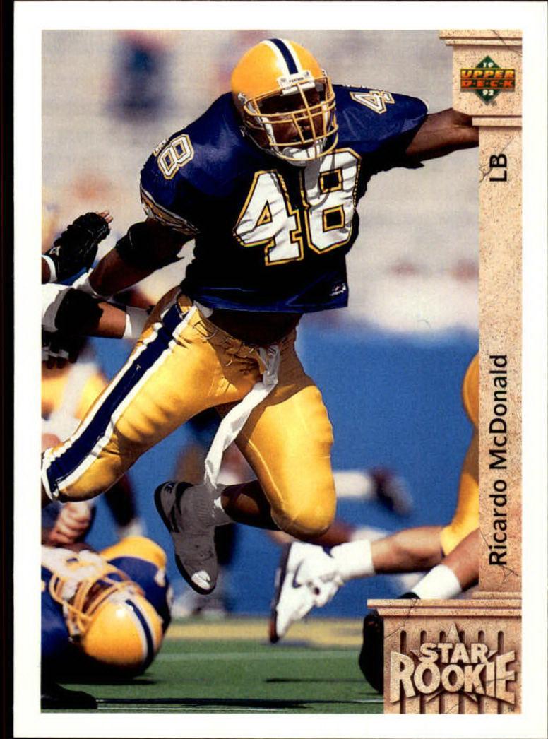 1992 Upper Deck #14 Ricardo McDonald RC