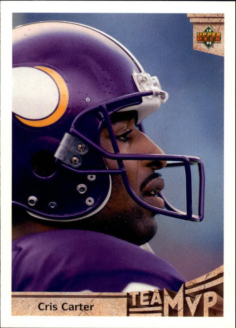 1992 Upper Deck #378 Cris Carter MVP