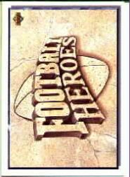 1992 Upper Deck Walter Payton Heroes #NNO Walter Payton/Title Header Card