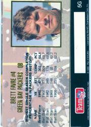 1993 Action Packed 24K Gold #5G Brett Favre back image
