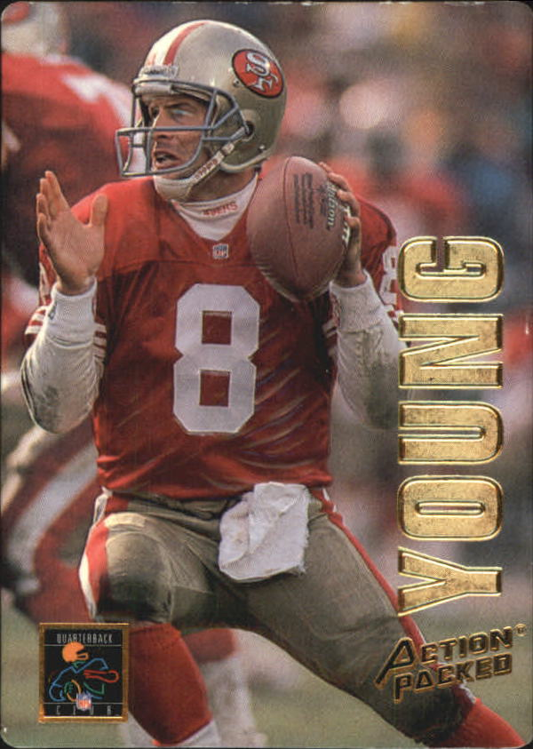 1993 Action Packed Quarterback Club Braille #QB18B Steve Young