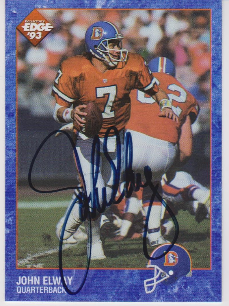 1993 Collector's Edge #PRO1 John Elway AU/3000