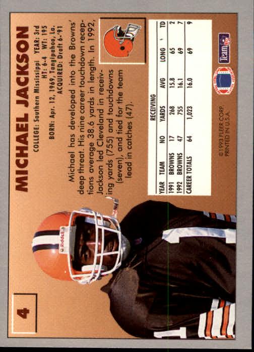 1993 Fleer #4 Michael Jackson back image
