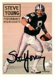 1993 Fleer Steve Young Autographs #4 Steve Young