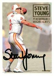 1993 Fleer Steve Young Autographs #5 Steve Young