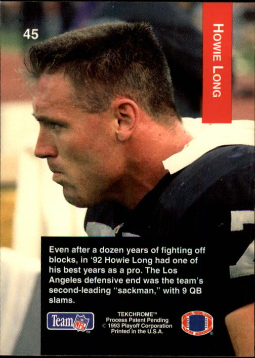 1993 Playoff #45 Howie Long back image