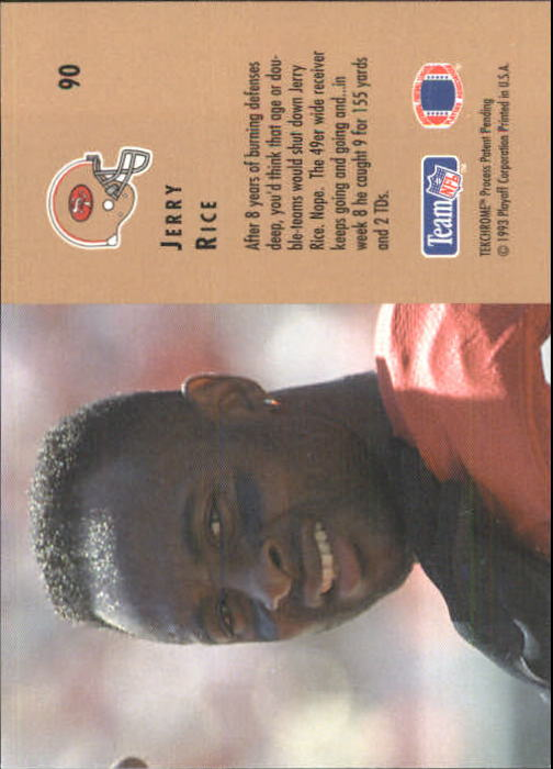 1993 Playoff Contenders #90 Jerry Rice back image