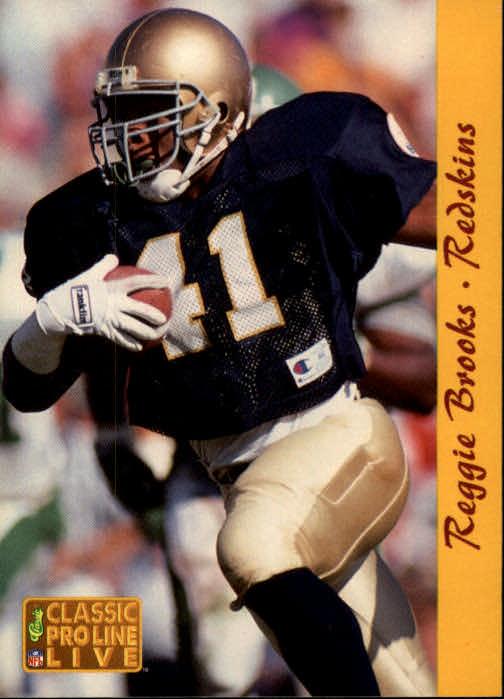 1993 Pro Line Live #285 Reggie Brooks RC