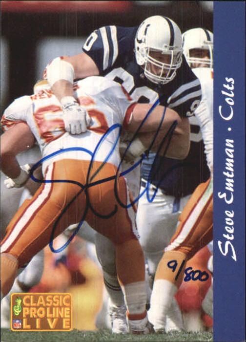 1993 Pro Line Live Autographs #13 Steve Emtman/800