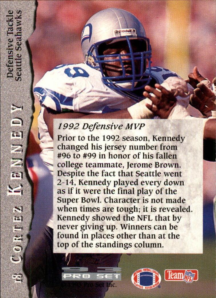 1993 Pro Set #18 Cortez Kennedy back image