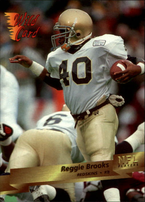 1993 Wild Card #164 Reggie Brooks RC
