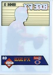 1994 Collector's Edge FX White Backs #2 Joe Montana back image