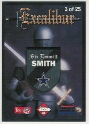 1994 Excalibur 22K #3 Emmitt Smith back image