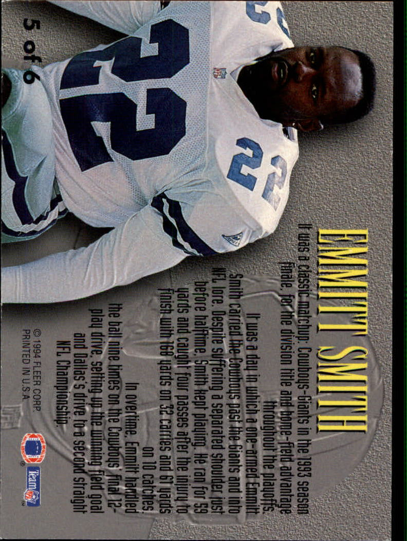 1994 Fleer Living Legends #5 Emmitt Smith back image