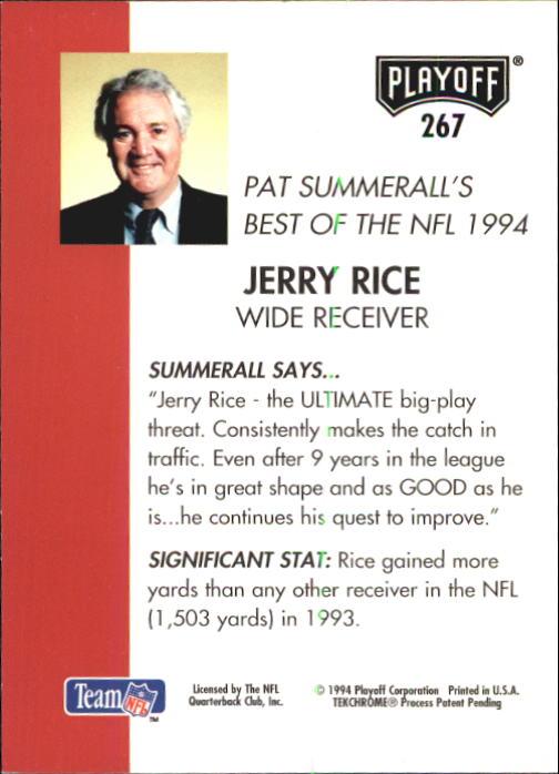 1994 Playoff #267 Jerry Rice SB back image