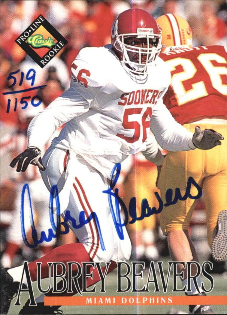 1994 Pro Line Live Autographs #9 Aubrey Beavers/1150