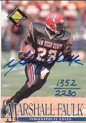 1994 Pro Line Live Autographs #44 Marshall Faulk/2230