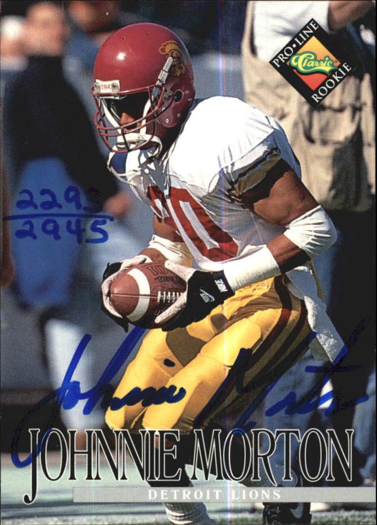 1994 Pro Line Live Autographs #96 Johnnie Morton/2945