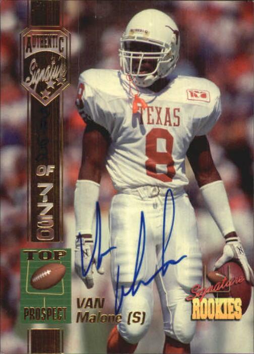 1994 Signature Rookies Autographs #34 Van Malone