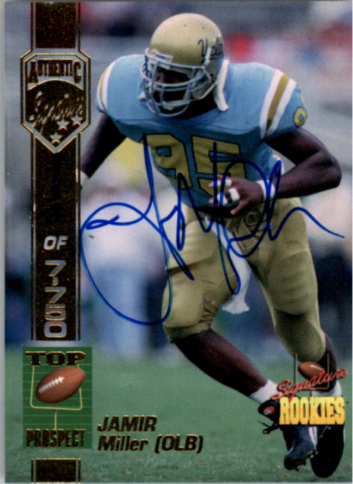 1994 Signature Rookies Autographs #36 Jamir Miller