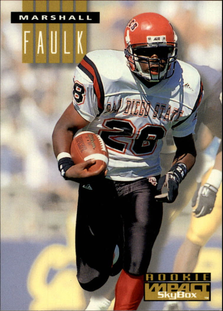 1994 Skybox Impact 274 Marshall Faulk Rc Rookie Card Nm Mt