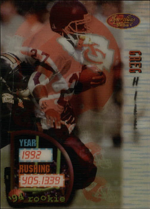 1994 Sportflics #153 Greg Hill RC