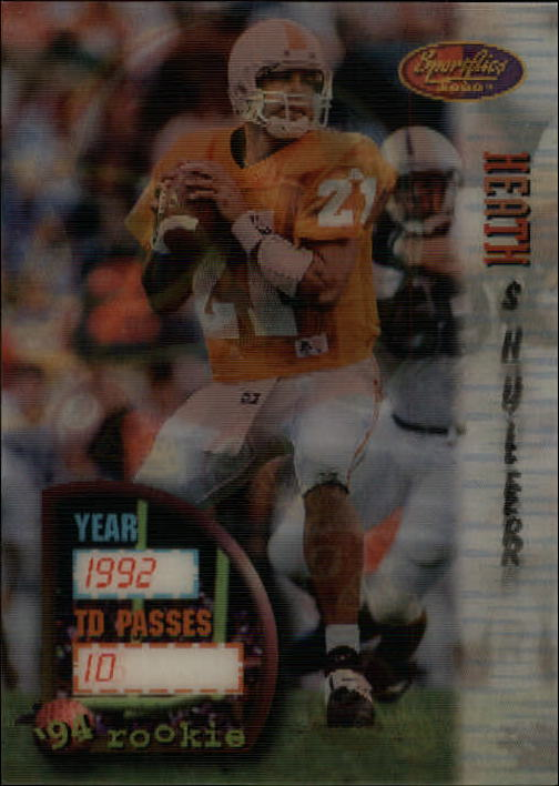 1994 Sportflics #154 Heath Shuler RC