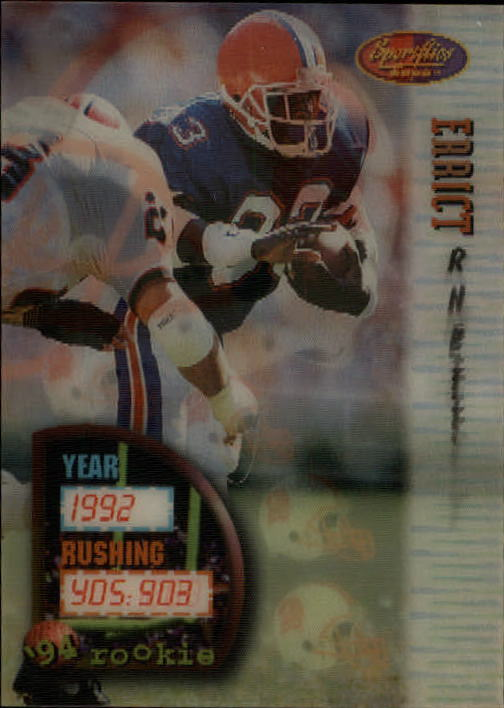 1994 Sportflics #155 Errict Rhett RC