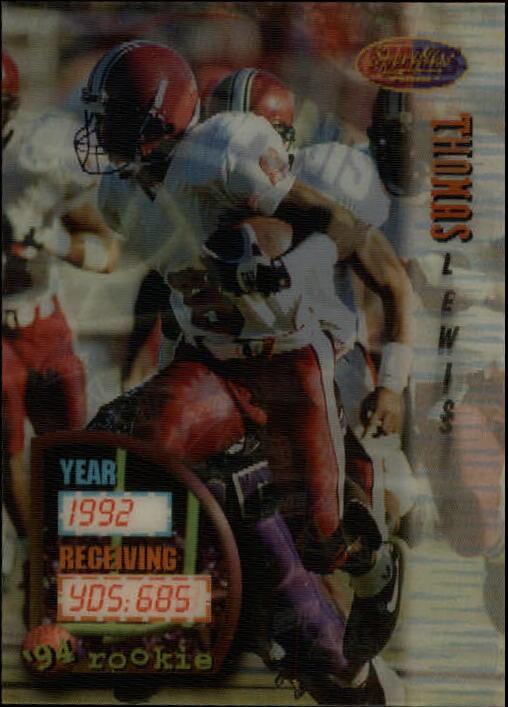 1994 Sportflics #159 Thomas Lewis RC